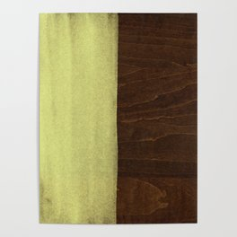 Yellow Paint on Wood Poster