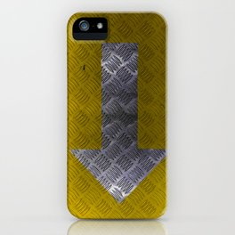 Industrial Arrow Tread Plate - Down iPhone Case