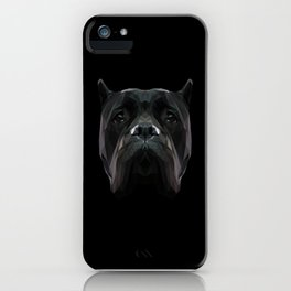 Cane Corso dog low poly. iPhone Case