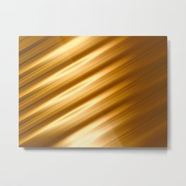 Abstract background blur motion golden hair strings Metal Print