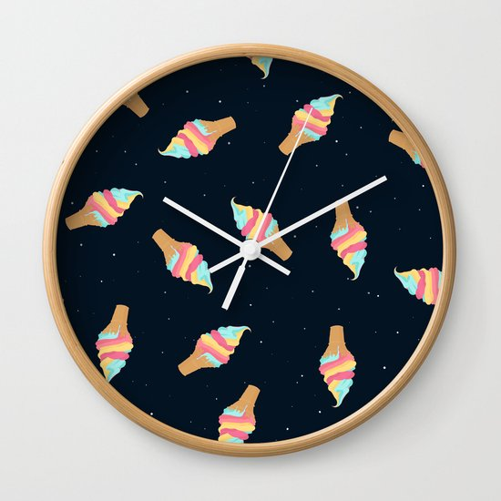 Soft Serve in Space Wall Clock