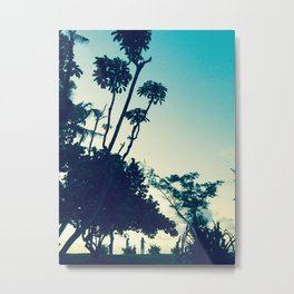 Look at the silhouette of the tree against the evening sky! Metal Print