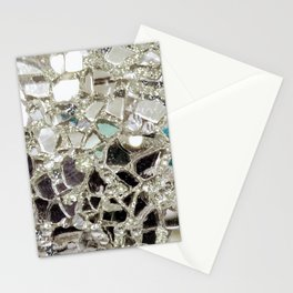 An Explosion of Sparkly Silver Glitter, Glass and Mirror Stationery Cards