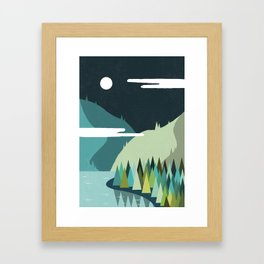 Beside The Mountains Framed Art Print