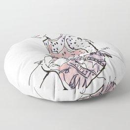 Lolita in a sheer pink polka dot dress  Floor Pillow