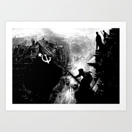 Flag Over Reichstag Art Print