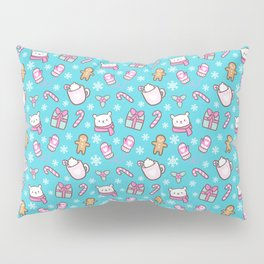 Cute Christmas // Teal Pillow Sham