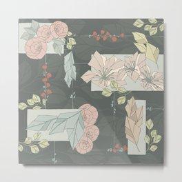 Flower Fracas Metal Print