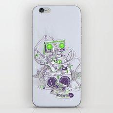Hippy robot iPhone & iPod Skin