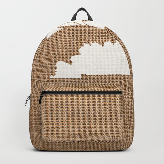 Kentucky is Home - White on Burlap by yellow13design