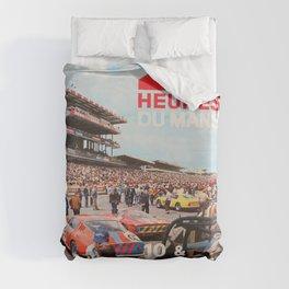 24hs Le Mans 1967, vintage poster Duvet Cover