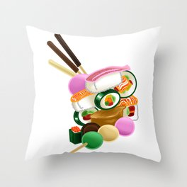 Sushi and Sweets - Full design Throw Pillow