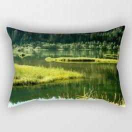 Fishing The Still Waters Rectangular Pillow