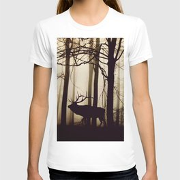 Forest night deer T-shirt