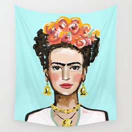 Frida Aqua Wall Tapestry