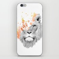 king iPhone & iPod Skins featuring If I roar (The King Lion) by Picomodi