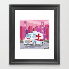 AMBULANCE (GROUND VEHICLES) Framed Art Print