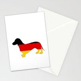 German Flag - Dachshund Stationery Cards