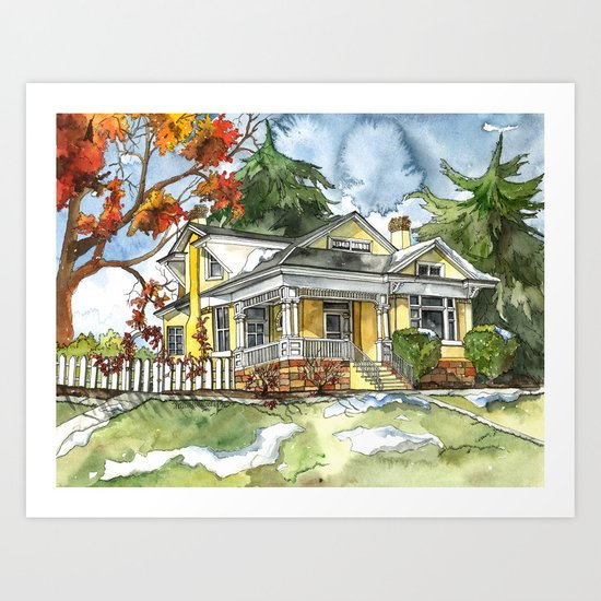 The Autumn House Art Print