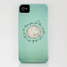 I Love You To The Moon And Back (blue) iPhone (4, 4s) Slim Case