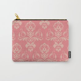 Dusty Rose Vintage Damask Carry-All Pouch