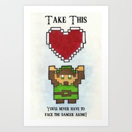 Take My Heart Art Print