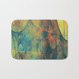 Abstract composition 147 Bath Mat