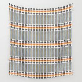 Geometric Stripes Seamless Vector Pattern Art Deco Wall Tapestry