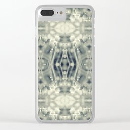 Poppy Collage Clear iPhone Case