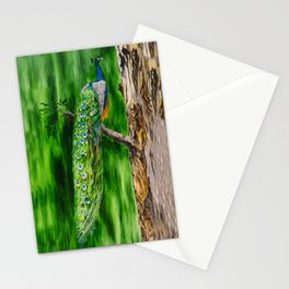 Peacock's Pride by Teresa Thompson Stationery Cards