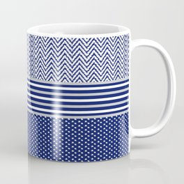 Ikat Blue Chevron Coffee Mug