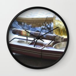 Cigar Time Wall Clock