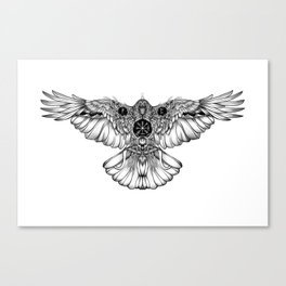 Raven of fate Canvas Print