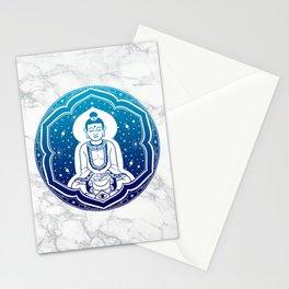Buda Gautama, Siddharta Gautama, Sakiamuni (blue) Stationery Cards