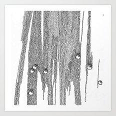 Grey pearls Art Print