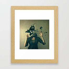 there's something wrong with my head Framed Art Print