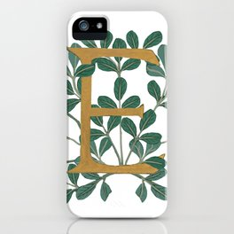Letter E Forest Lite 2020 iPhone Case