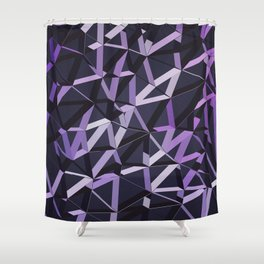 3D Futuristic GEO Lines VIX Shower Curtain