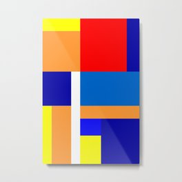 Mondrian #10 Metal Print