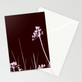 SEA PLANTS PURPURE&BROWN Stationery Cards