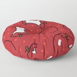 Apples with Polka Dots Floor Pillow