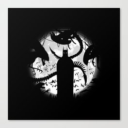 Bat and The Alien Canvas Print