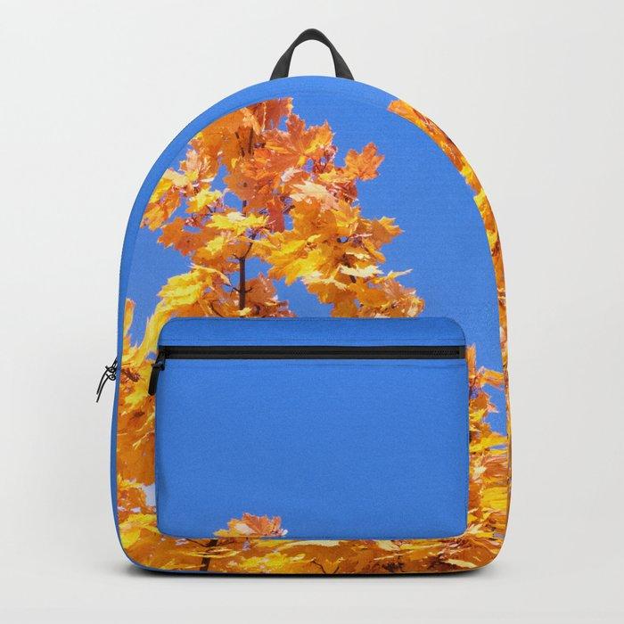 Golden Autumn #1 #Yellow #Leaves #Blue #Sky #art #society6 Backpack