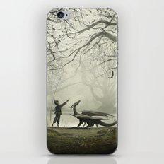 The Boy And His Dragon iPhone & iPod Skin
