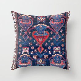 Luri Fars Southwest Persian Rug Print Throw Pillow