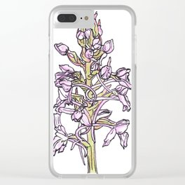 Fragrant Orchid Clear iPhone Case