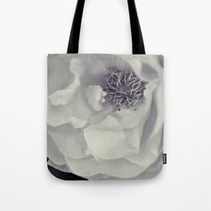 Black & White Rose Tote Bag