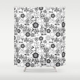 Supernatural Symbols Shower Curtain
