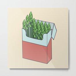 Asparagus Smokes Metal Print