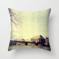 prague Throw Pillows featuring Prague by Milan Kubík